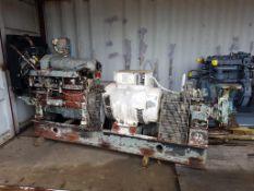 Lister 45kVA Industrial diesel generator and water pump used