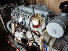 Perkins 69KVA diesel standby generator in acoustic cabinet