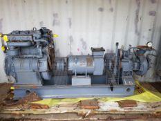 Unused Lister 10KW Marine Diesel generator and water pump.