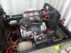 Lister/Petter Diesel Engine on Trailer Chassis