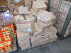 Assortment of boxed sweets, to pallet. Purchasers responsibility to check the dates prior to