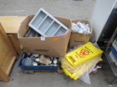 Pallet of catering supplies