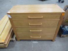 4 drawer wooden effect chest of drawers