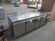 Large stainless steel Infico four door chilled storage cabinet
