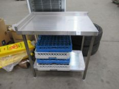 Two tier stainless steel prep table