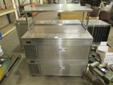 Chilled stainless steel two drawer display unit