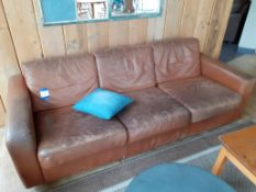 Vintage 3 Seat Sofa Brown Leather