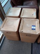 4 Fibre Board Stools/Storage Boxes
