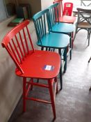 4 Painted Timber Bar Stools