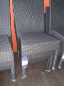 4 Plastic Wicker Patio Chairs