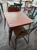 Steel Framed Painted Top Café Table with 2 Chairs