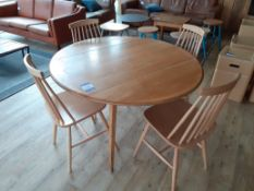 Ercol Style Oak Veneer Drop Flap Dining Table with