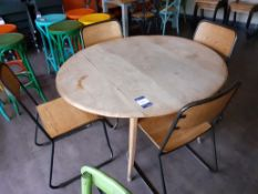 Ercol Style Elm Veneered Drop Flap Dining Table wi