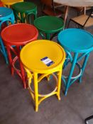 4 Painted Bentwood High Stools