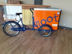 Delivery Tricycle fitted Chest Freezer