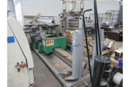 Detel KM 5-2-1 HP through feed drilling machine, weight 2600kg 3 phase, 50Hz, 380-415V, S/N 08-058-0