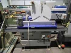 Felder P200 pre-glued edgebander with cut off guillotines