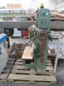 Dominion chain morticer fitted with chisel attachment 3PH