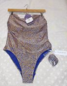 Seafolly Ladies Bathing Costume, Size 14, Rrp.£120