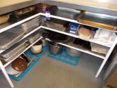 Large quantity of cutlery, trays etc to kitchen area (Shelving not included)