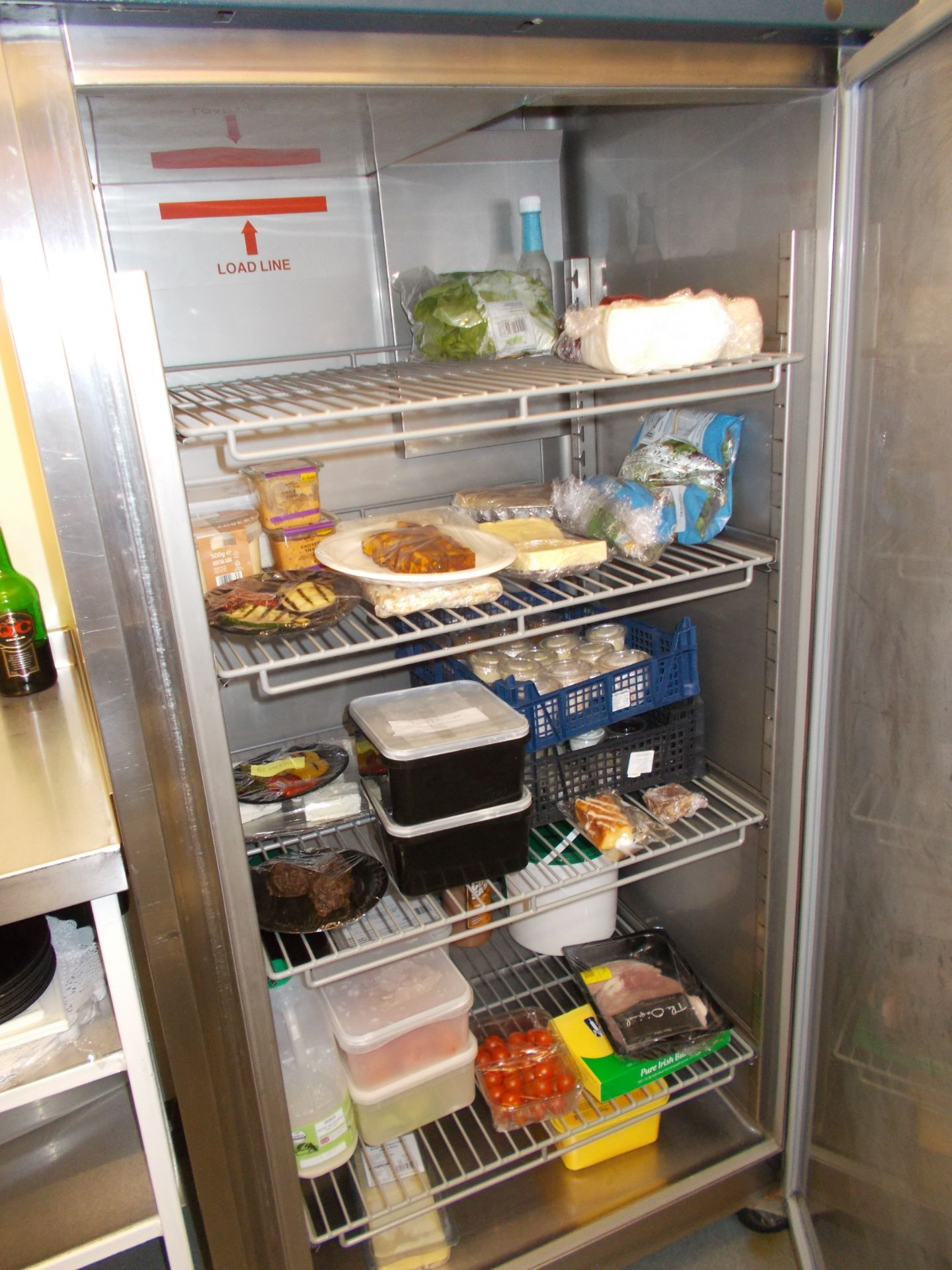 Williams upright mobile refrigerator. Dimensions: H: 6ft 5 x W: 2ft 10 x D: 2ft 3 - Image 2 of 2