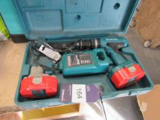 Makita 8390D 18v Cordless Drill 13mm, with 2 Batteries and Charger with case