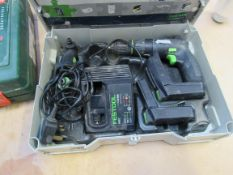 Festool CXSU Li 1.3 GB Drill Driver, 2 batteries, charger and case
