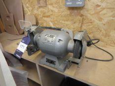 """Hilka 6"""" Bench Grinder, 370W, 240V, 3000RPM"""