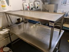 Two assorted Stainless Steel Tables, 5' & 4' approx