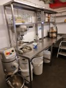 Two Stainless Steel 3-tier Tables, 8' x 2' & 6' x 2'