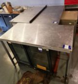 Four Assorted Stainless Steel Tables, approx. 4' x 2'