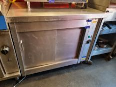 2 Stainless Steel Hot Cupboard and Refrigerated Counter
