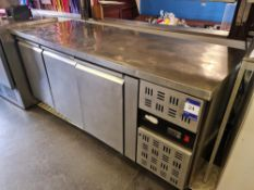 Caravell Triple Door Refrigerated Counter