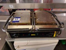 2x Buffalo twin panini press/toastie maker