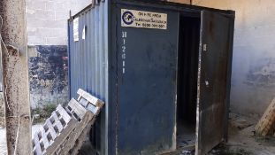 10' Steel shipping container. *Viewing strongly recommended in order for purchasers to ascertain