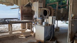 MEC C280 Stone Splitter/Guillotine Machine, Serial Number P0432501013 (2013) with steel roler
