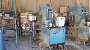 MEC C320 Stone Splitter/Guillotine machine, Serial Number P0232600811 (2011). Damage to electrical