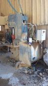MEC C320 Stone Splitter/Guillotine Machine, Serial Number P0332001011 (2011). Damaged operator