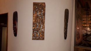 3 x African Wood Carvings