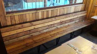 2 x Steel Framed Timber Slat Bench 3600mm