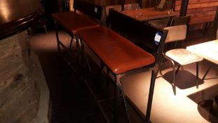 2 x Steel Framed 1000mm Bar Benches