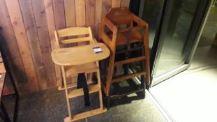 3 Timber Framed High Chairs