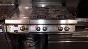 Angelopo Gas 4 Burner Range with Hot Plate on Stan
