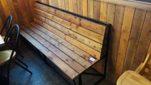 Steel Framed Timber Slat Bench 1900mm