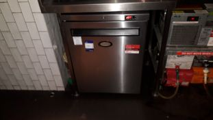 Forster HR150-A Stainless Steel Under Counter Fridge