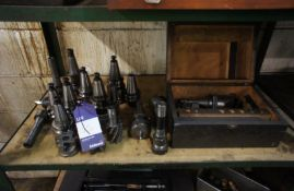 Quantity of Various Machine Tool Holders, Cutters