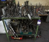 Large Quantity of Various Taper Shank, Drills and