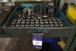 Quantity of various Collets to metal drawer