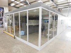 Grey Steel Freestanding Clean Room Encloser 19m x
