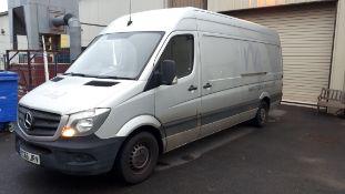 Mercedes Benz Sprinter 313 CDI 3.5t High Roof Van, registration YC66 JRV, first registered 30 Septem